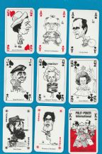 Collectable playing cards courts. Polit-poker International